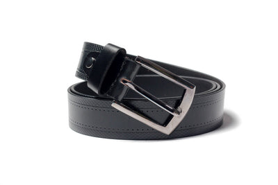 Men's Textured Leather Belt Black 1