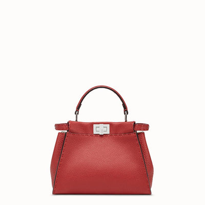 Camelide Women's Leather Zip Top Tote, Red
