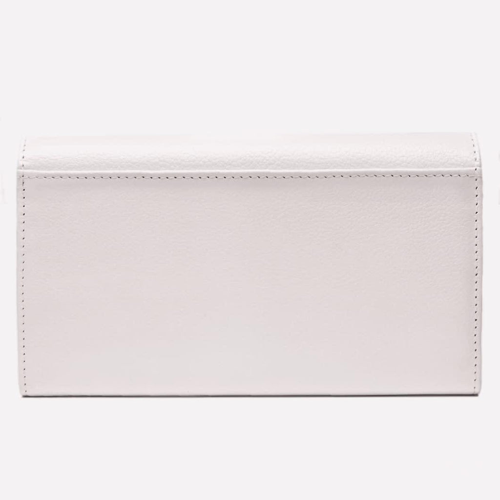 Women's Flap Over Purse, White