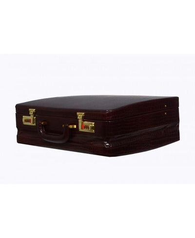Heritage Ben Nevis Lid Over Attache Case with Multi Pockets, Black