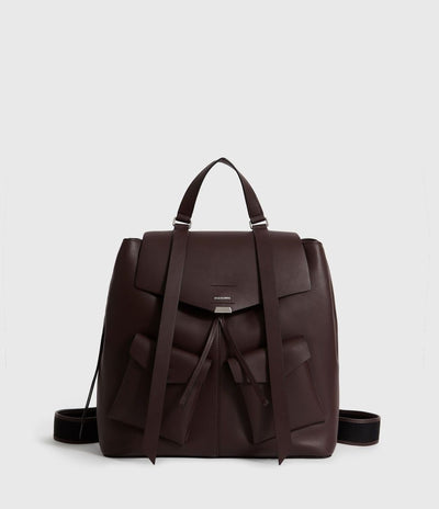 Women's Leather backpack Bordeaux Red
