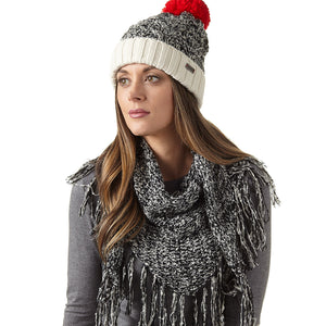 Ladies' Boucle Cuff Cap with Pom