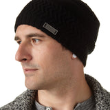 Men's Herringbone Knit Beanie