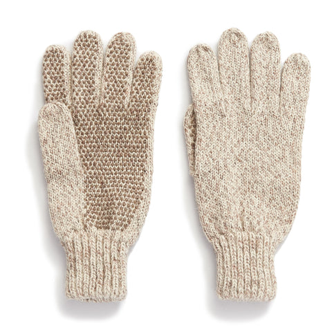 Ragg Wool Glove with Dotted Grip Palm