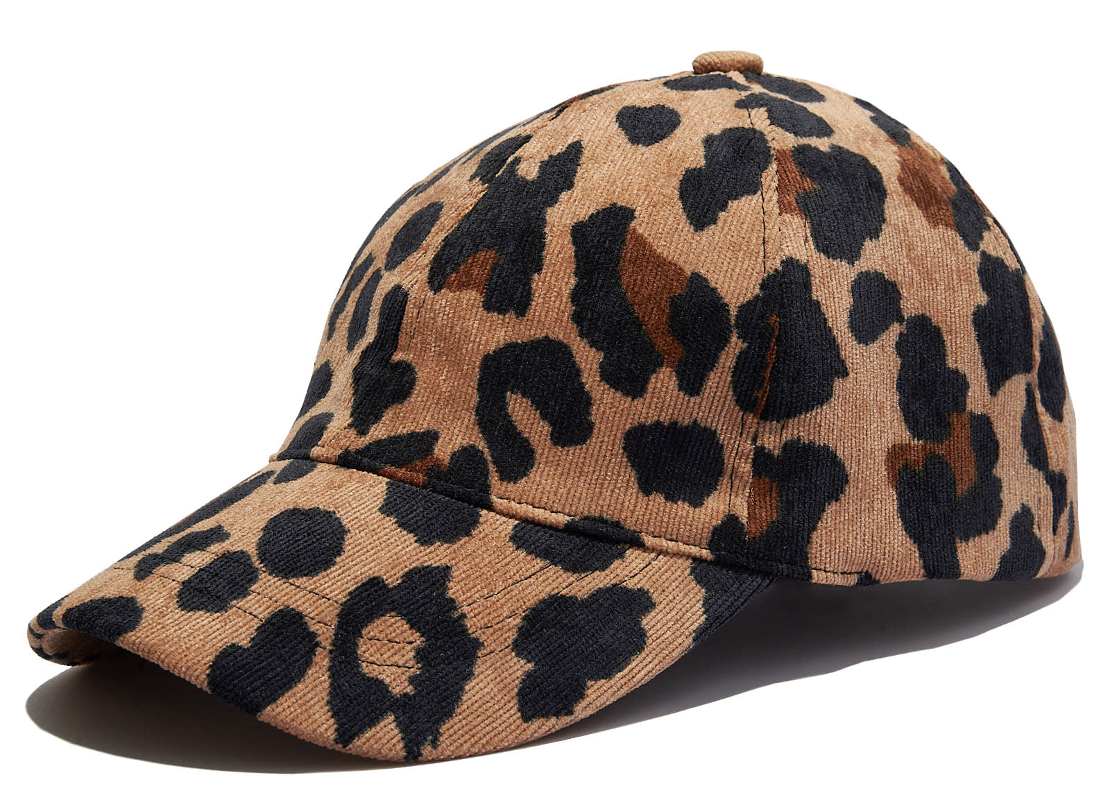 Corduroy Leopard Print Adjustable Dad Hat