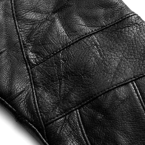 Ladies' Leather Pieced Design Touch Glove