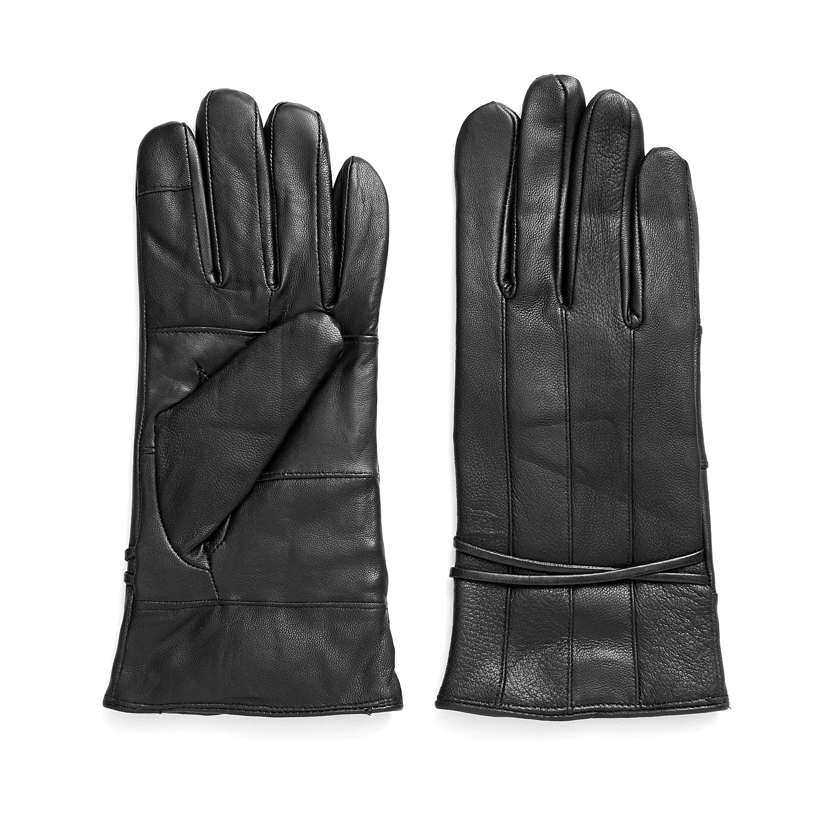 Ladies' Pieced Leather Touch Glove