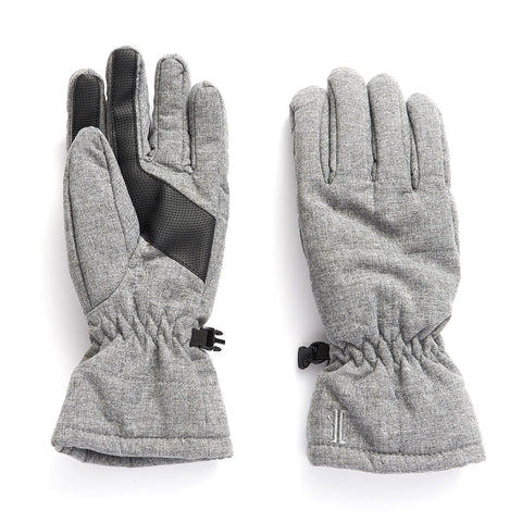 Ladies' Quilted Soft Shell Touch Ski Glove - Heather