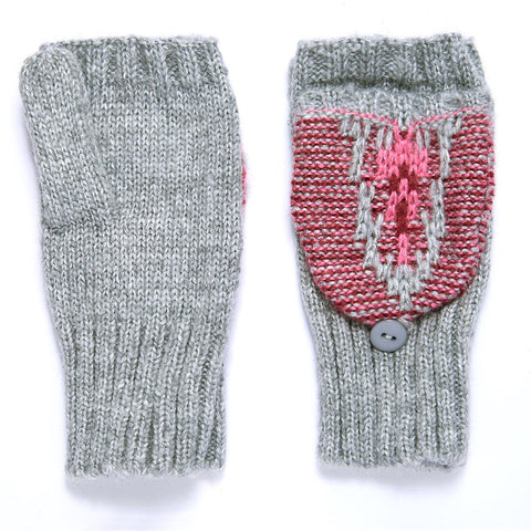 Ladies' Acrylic Fair Isle Pop-Top Mitten