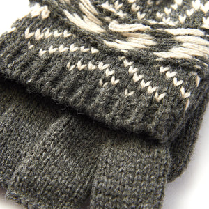 Ladies' Nordic Fair Isle Pop-Top Mitten