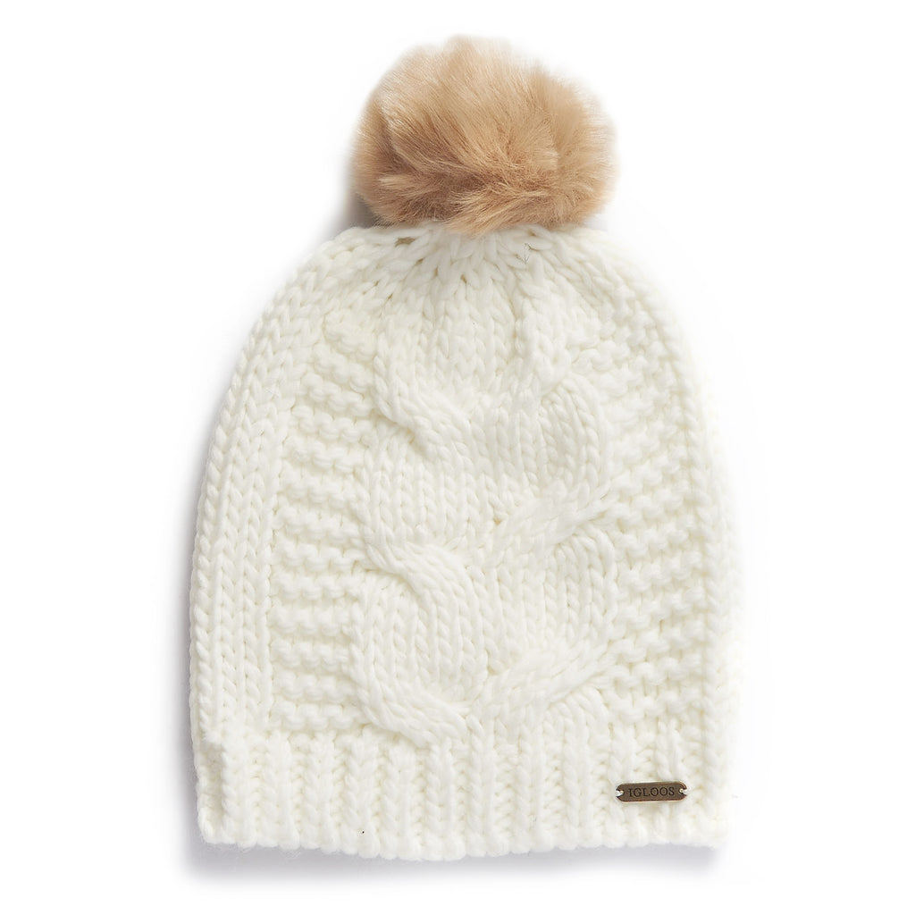 Ladies' Beanie w/ Faux Fur Pom