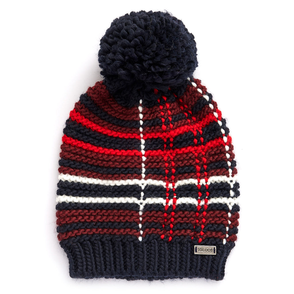 Ladies' Plaid Beanie w/ Pom
