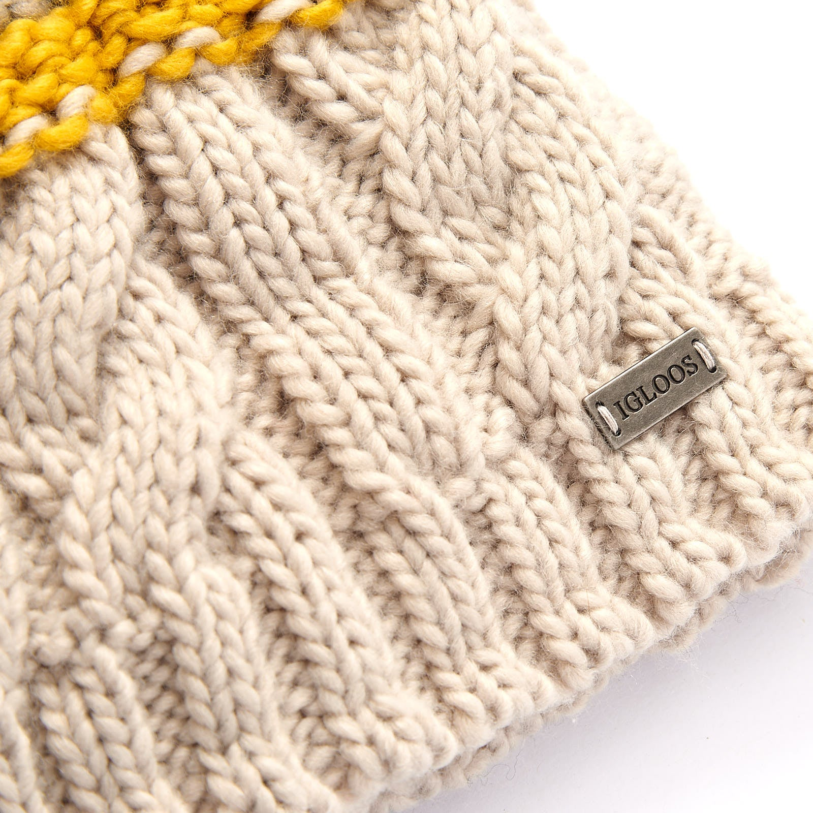 Ladies' Acrylic Beanie with Oversized Pom