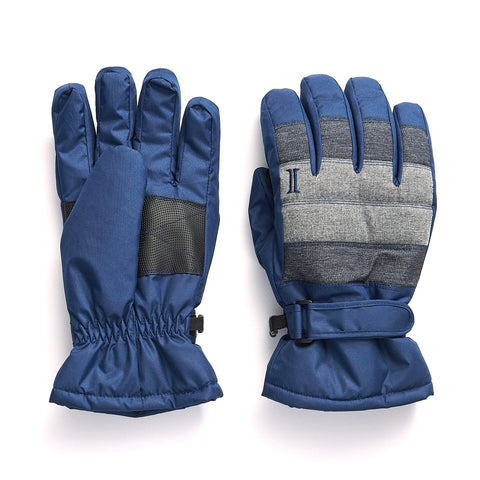 Men's Taslon Color Blocked Ski Glove - Estate Blue