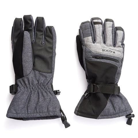 Men's Softshell Ski Glove - Charcoal/Light Gray