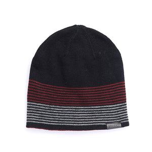 Men's Reversible Striped Beanie