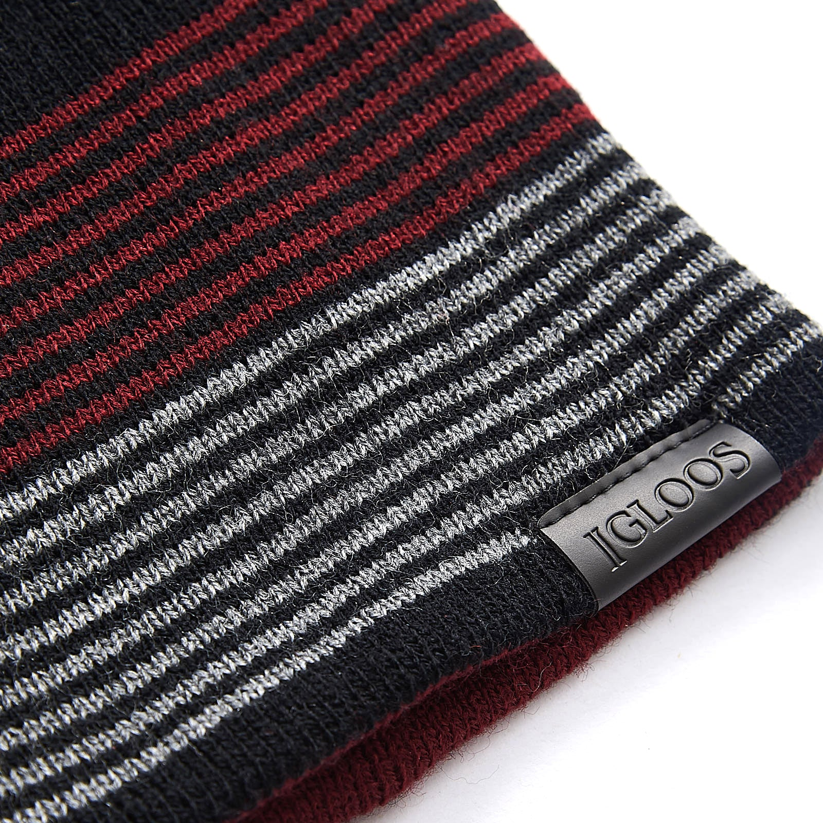 Men's Reversible Striped Classic Beanie
