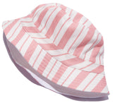 Pink Striped Bucket Hat