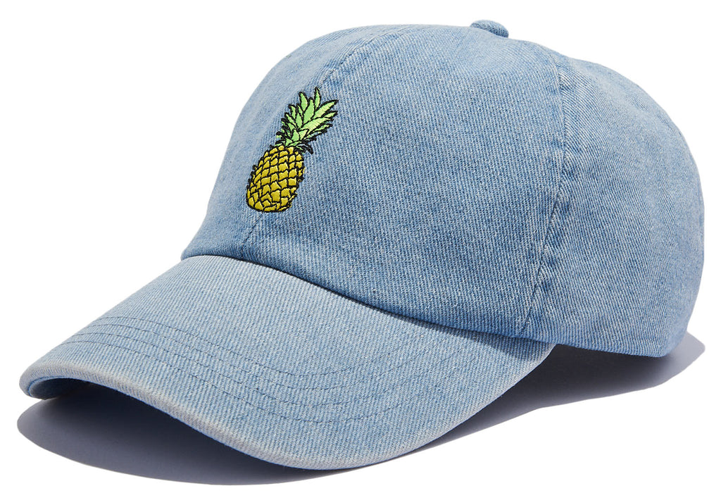 Denim Adjustable Dad Hat - Pineapple