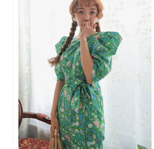 Load image into Gallery viewer, chic flower printed dress