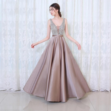 Load image into Gallery viewer, Beads Bodice Open Back A Line Long Evening Dress Party Elegant