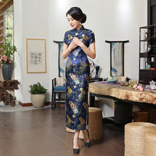 Load image into Gallery viewer, Green Rayon Cheongsam Chinese Classic