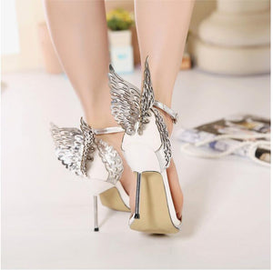Butterfly  high heel pumps shoes
