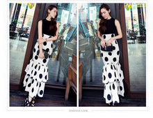 Load image into Gallery viewer, OL Polka dot print maxi chiffon cake sexy casual skirt