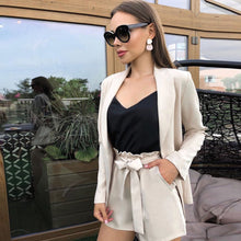 Load image into Gallery viewer, suit long-sleeved jacket shorts office sets