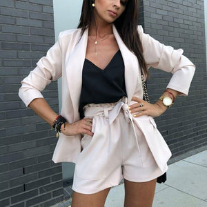 suit long-sleeved jacket shorts office sets