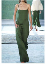 Load image into Gallery viewer, Green Minimalism Cami Jumpsuit