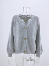 Load image into Gallery viewer, Buttons Up Sweater Cardigan