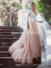 Load image into Gallery viewer, Sexy V-neck Ball Gown  Dress Lace Long Sleeves