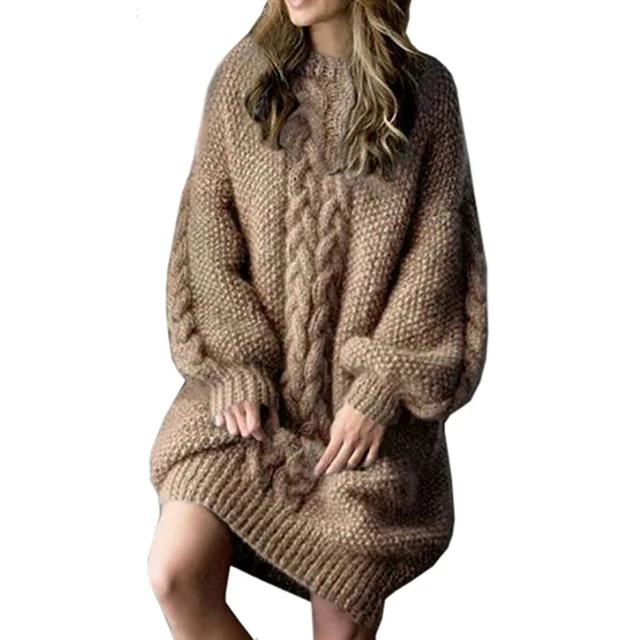 Thick Warm Long Style Sweater Loose Casual