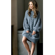 Load image into Gallery viewer, Thick Warm Long Style Sweater Loose Casual