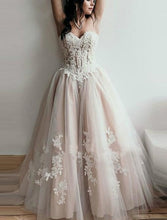 Load image into Gallery viewer, Sweetheart Lace Applique  Dress Off Shoulder Corset