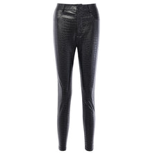 Load image into Gallery viewer, Black High Waist Pencil Faux Leather Pants