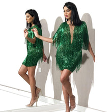 Load image into Gallery viewer, Green Middle East Cocktail Dress