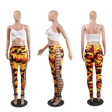 Load image into Gallery viewer, Cross Bandage Camouflage Pants