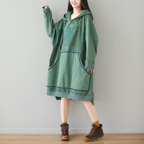 Baggy Oversized Hooded Dress