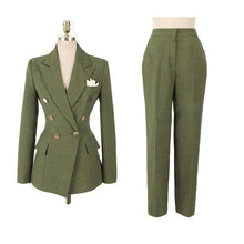 Load image into Gallery viewer, Fashion Green  Blazer Set
