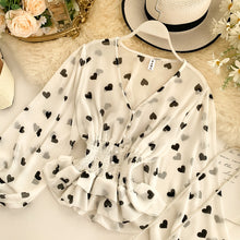 Load image into Gallery viewer, Romantic Heart Print Chiffon Blouse