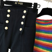 Load image into Gallery viewer, Black Jeans Autumn Winter Double-breasted Pants