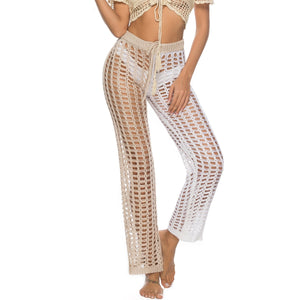 Summer Beach Knitted Hollow Out Pants See