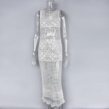 Load image into Gallery viewer, Knit Dress Embroidery Tassel Sexy O-neck