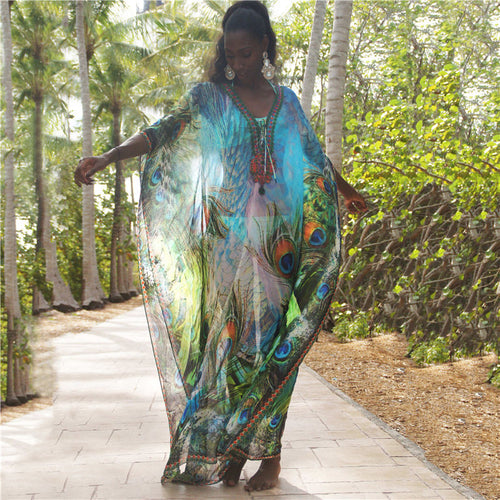Chiffon Long Beach Cover up