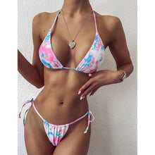 Load image into Gallery viewer, Swimsuit Swimwear Bandage Thong Bikini Set