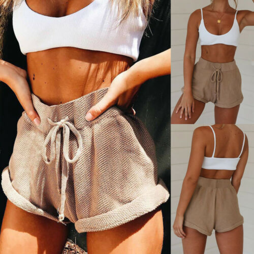High Waist Tie Belt Shorts Bottoms