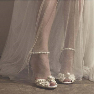 Fashion Full Pearl Sandals Peep Toe