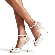 Load image into Gallery viewer, Fashion Full Pearl Sandals Peep Toe